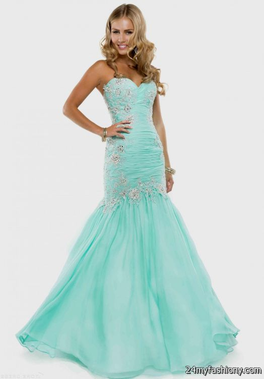 Lace fitted prom dresses 2018