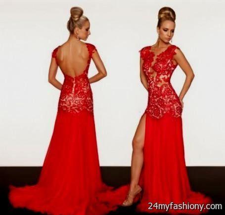 Red Prom Dresses Open Back - Formal Dresses