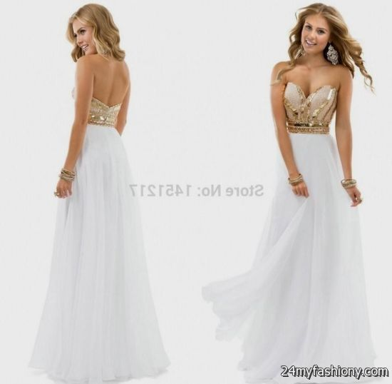 sexy white and gold prom dresses 2016-2017 » B2B Fashion