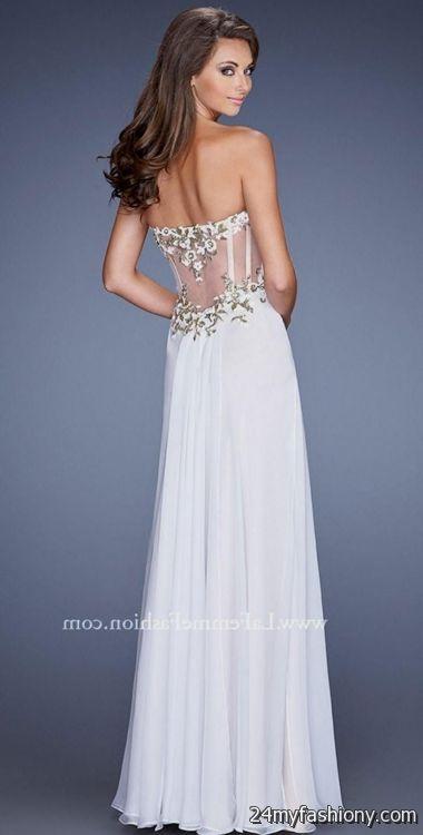 Sheer Corset Prom Dresses Looks B2b Fashion