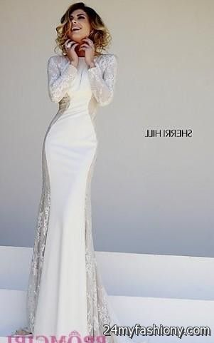 Sherri hill wedding dresses 2018 long sleeve