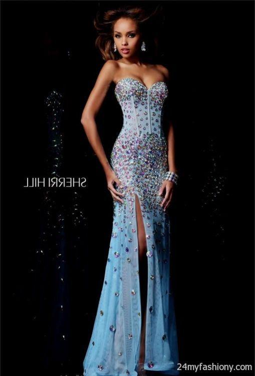 sherri hill prom dresses blue 20162017 b2b fashion