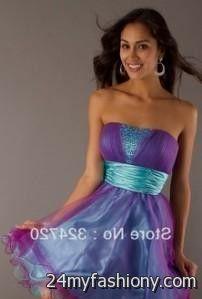 short blue and purple prom dresses 2016-2017 » B2B Fashion