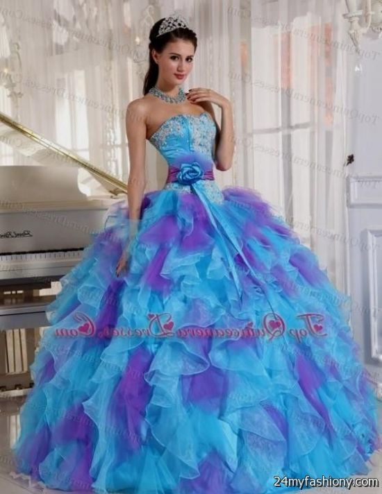 Short Blue And Purple Prom Dresses 2016 2017 B2b Fashion