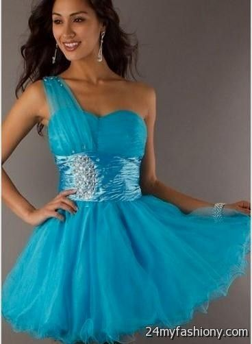 Blue Short Prom Dresses See Through