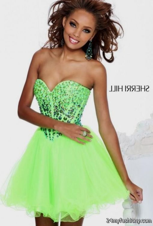 lime green short prom dresses - Dress Yp