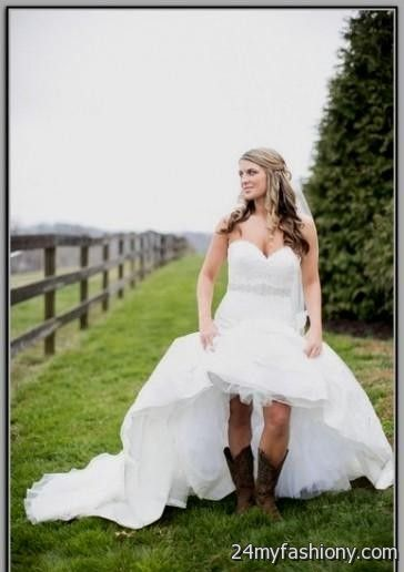 Short country wedding dresses with cowboy boots junoir for Short country wedding dress