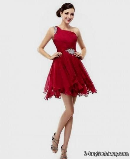 short dark red dress with sleeves 2016-2017 » B2B Fashion