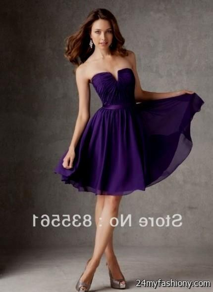 bab69bb7cf8 Customize your dress and stand out from the crowd. Look your best in these  sexy prom dresses! Pin it. Like! You can share these short deep purple  bridesmaid ...