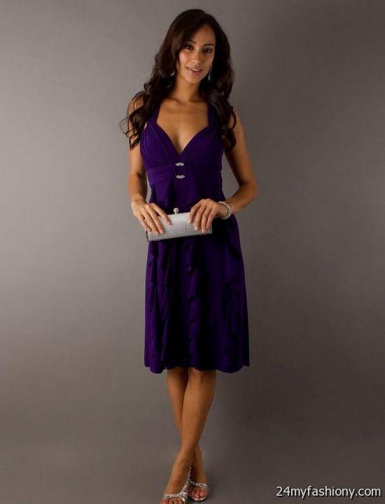 Deep Purple Evening Dress
