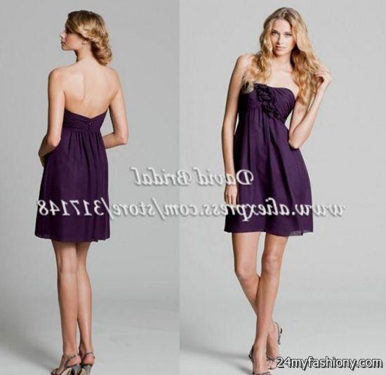 short deep purple bridesmaid dresses 2016-2017 » B2B Fashion