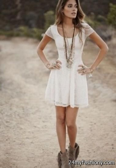 Pictures of short dresses with boots