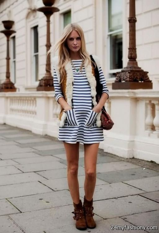 Short Dress With Boots Looks B2b Fashion