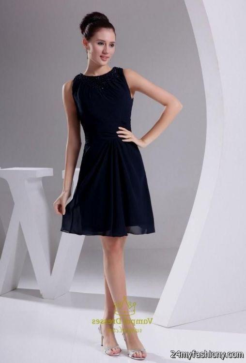 navy blue chiffon short bridesmaid dresses discount