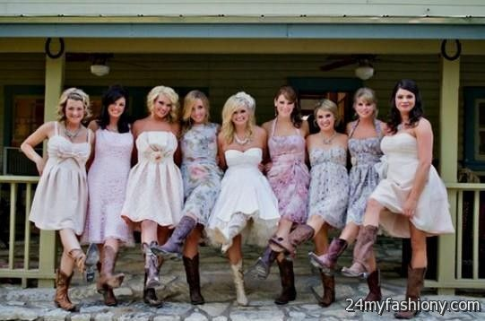 Girls in Short Dresses and Cowboy Boots