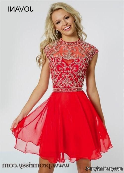 short red prom dresses with sleeves 2016-2017 » B2B Fashion