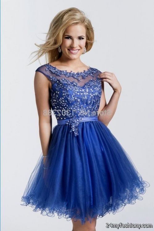 Royal Blue Prom Dresses 2017 Short - Prom Dresses With Pockets