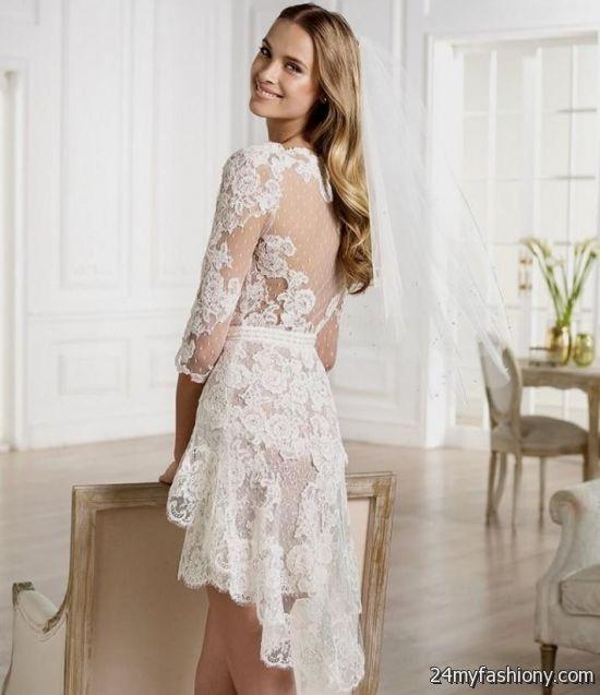 Short beautiful wedding dress 2016 2017 b2b fashion for Sexy short wedding dress
