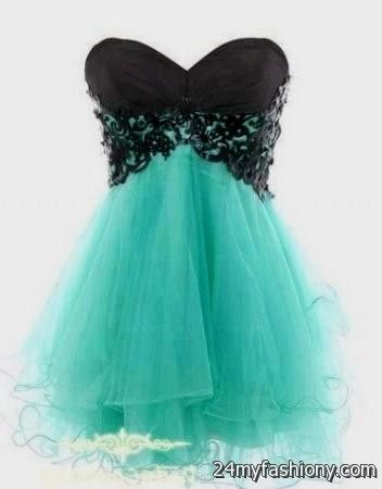 Turquoise And Black Prom Dresses - Homecoming Prom Dresses