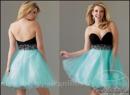 short turquoise and black prom dresses 2016-2017 » B2B Fashion