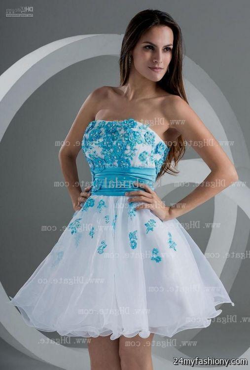 short white and blue prom dresses 2016-2017 | B2B Fashion