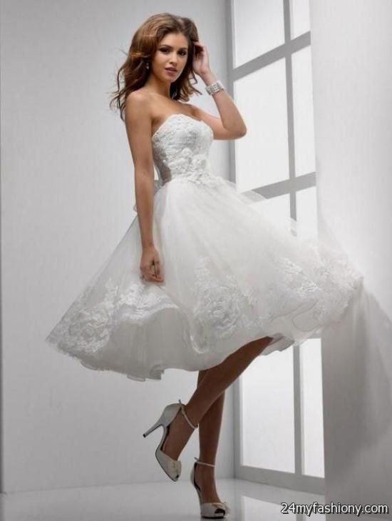 Short white wedding dresses for women