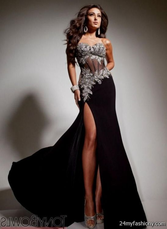 Black And Silver Prom Dresses - Discount Evening Dresses