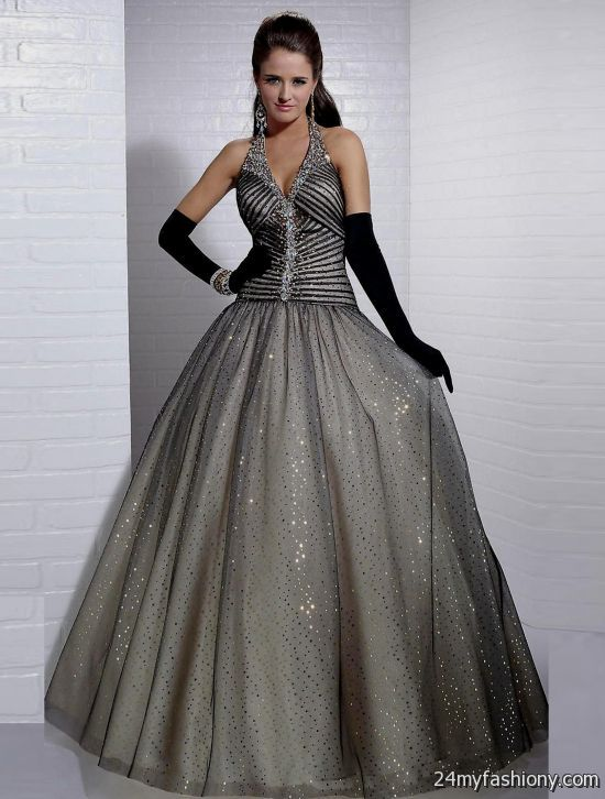 silver ball gowns with sleeves 2016-2017 » B2B Fashion