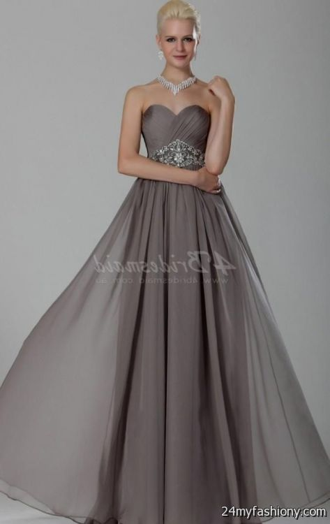 silver chiffon bridesmaid dresses 2016-2017 » B2B Fashion