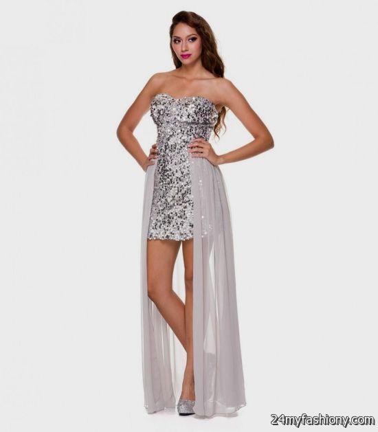 silver high low prom dresses 2016-2017   B2B Fashion