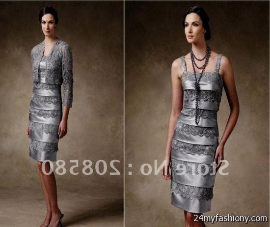 ecb98f5a5e5 silver lace mother of the bride dresses looks