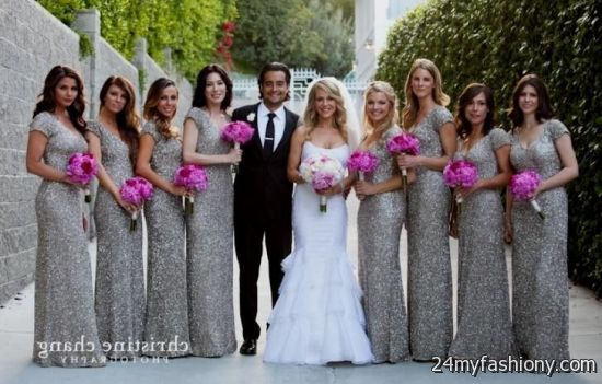 4d586ae85a Customize your dress and stand out from the crowd. Look your best in these  sexy prom dresses! Pin it. Like! You can share these silver sequin  bridesmaid ...