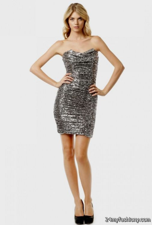 silver sequin cocktail dresses 2016-2017 | B2B Fashion