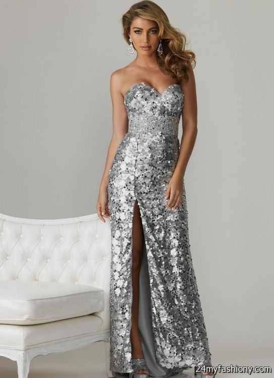 silver sequin evening gowns 2016-2017 | B2B Fashion