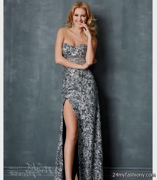 6d3cbf47985 You can share these silver sparkly homecoming dresses on Facebook
