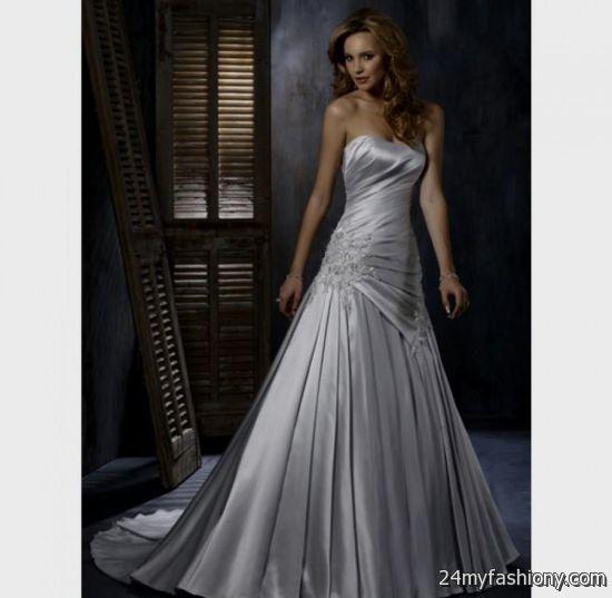 Silver wedding dresses 2016 2017 b2b fashion for Silver dresses to wear to a wedding