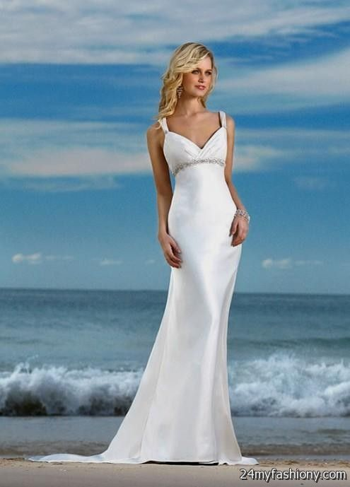 Simple beach wedding dresses with sleeves 2016 2017 b2b for Beach wedding dresses 2017