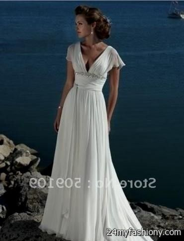 simple beach wedding dresses with sleeves 20162017 b2b