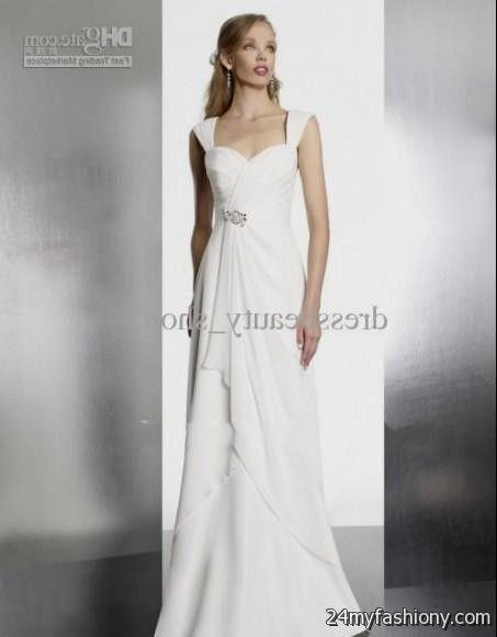 simple beach wedding dresses with sleeves 20162017 b2b