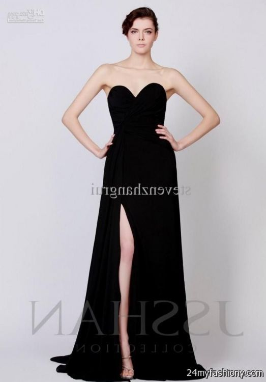 Simple Black Prom Dresses Homecoming Prom Dresses