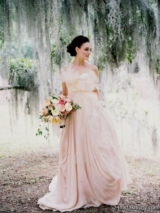 Simple Blush Wedding Dress 20162017 B2B Fashion - Plus Size Blush Wedding Dresses