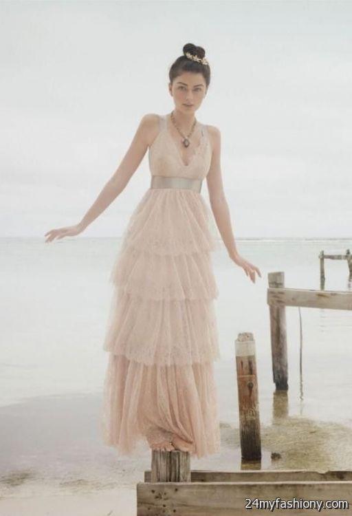Simple Blush Wedding Dresses - Dresses