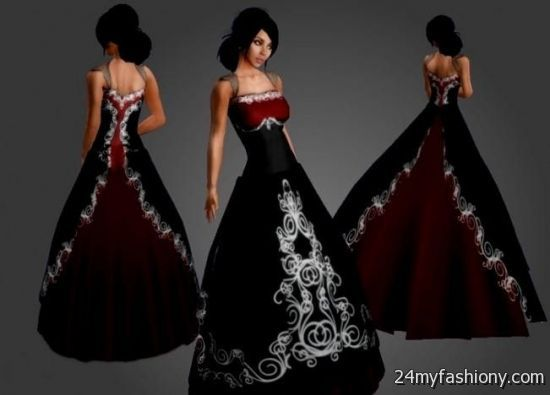 Simple red and black wedding dresses 2016 2017 b2b fashion you can share these simple red and black wedding dresses on facebook stumble upon my space linked in google plus twitter and on all social networking junglespirit Gallery