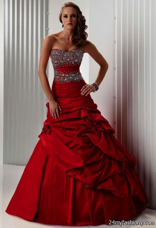 Simple red and black wedding dresses 2016 2017 b2b fashion for Wedding dresses white and red