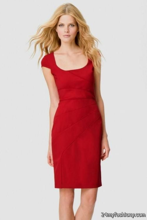 simple red dress with sleeves 2016-2017 » B2B Fashion