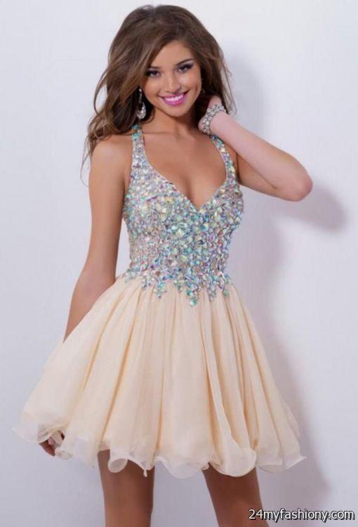 4e91bd1492c Simple short prom dresses looks