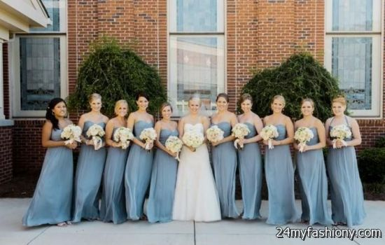 Customize your dress and stand out from the crowd. Look your best in these  sexy prom dresses! Pin it. Like! You can share these slate blue bridesmaid  ... - Slate Blue Bridesmaid Dress 2016-2017 B2B Fashion