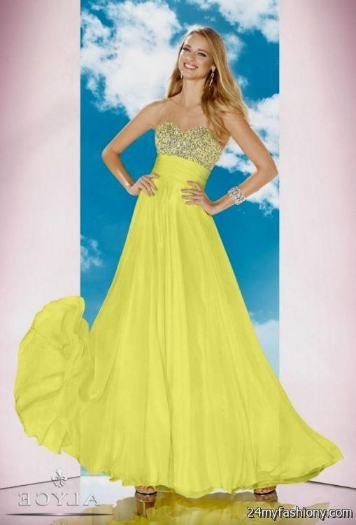 sparkly yellow prom dresses 20162017 b2b fashion