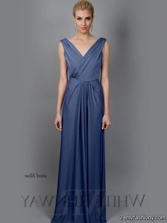 Steel Blue Bridesmaid Dress Looks B2b Fashion