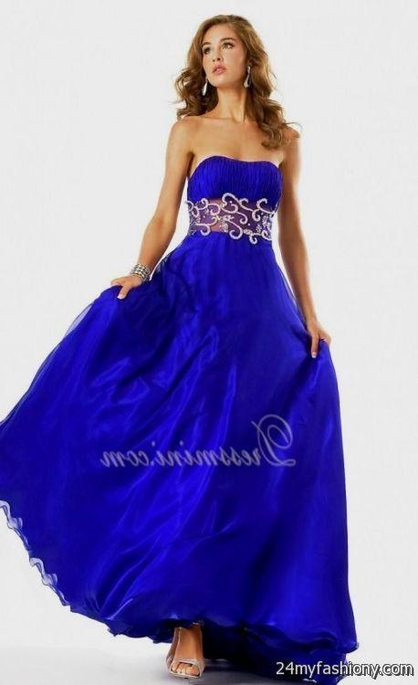 strapless cobalt blue bridesmaid dresses 20162017 b2b